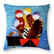 Music Performers Throw Pillow