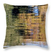 Muted Reflections Throw Pillow by Kate Brown
