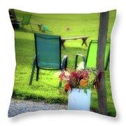 Muzeical Chairz Throw Pillow