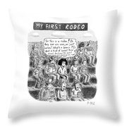 My First Rodeo Throw Pillow