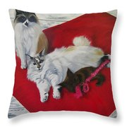 My Girl's Throw Pillow by Sharon Duguay