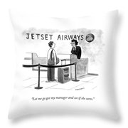 My Manager Throw Pillow