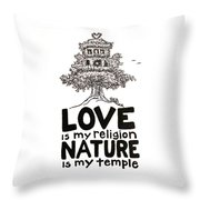 My Mantra Drawing Throw Pillow