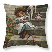 My Turn Next, 19th Century Throw Pillow