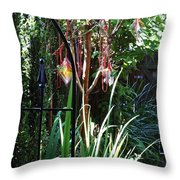 Mystery Fence Throw Pillow