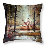 Mystic Forest Throw Pillow