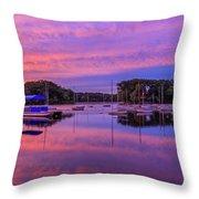 Mystic Lake Sunrise Throw Pillow