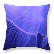 Mystical Jellyfish Throw Pillow