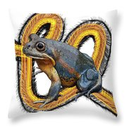 N Is For Northern Banjo Frog Throw Pillow