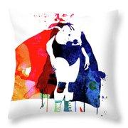 Nacho Watercolor Throw Pillow