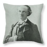 Nadar Portrait Of Charles Baudelaire Throw Pillow