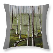 Naked Forest Throw Pillow