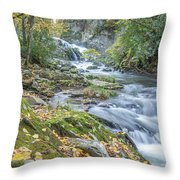 Nantahala Fall Flow Throw Pillow
