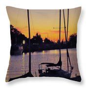 Narrow Sunset Throw Pillow