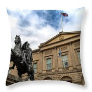 National Records Of Scotland Throw Pillow by Ross G Strachan