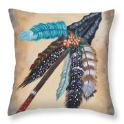 Native American Style  Throw Pillow