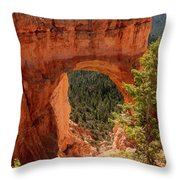 Natural Bridge - Bryce Canyon - Utah - Vertical Throw Pillow