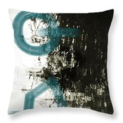 Natural Reflections With Blue Shapes Throw Pillow