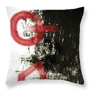 Natural Reflections With Red Shapes Throw Pillow