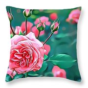 Naturalness And Flowers 31 Throw Pillow