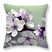 Naturalness And Flowers 33 Throw Pillow