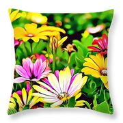 Naturalness And Flowers 35 Throw Pillow