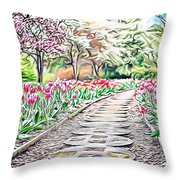 Naturalness And Flowers 36 Throw Pillow