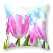 Naturalness And Flowers 40 Throw Pillow