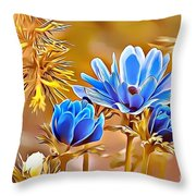 Naturalness And Flowers 47 Throw Pillow