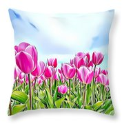 Naturalness And Flowers 48 Throw Pillow