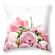 Naturalness And Flowers 49 Throw Pillow
