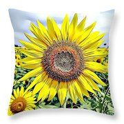 Naturalness And Flowers 51 Throw Pillow