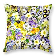 Naturalness And Flowers 54 Throw Pillow