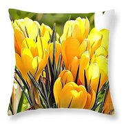 Naturalness And Flowers 56 Throw Pillow
