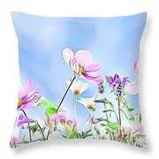 Naturalness And Flowers 59 Throw Pillow