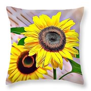 Naturalness And Flowers 60 Throw Pillow
