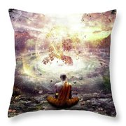 Nature And Time Throw Pillow