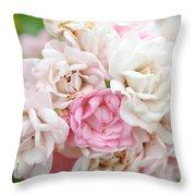 Natures Wedding Bouquet Throw Pillow