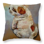 Naughty Puppy Throw Pillow