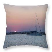 Naxos Island Throw Pillow