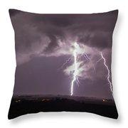 Nebraska Arcus And Lightning 044 Throw Pillow