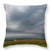 Nebraska Supercell 002 Throw Pillow by Dale Kaminski