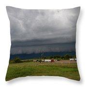 Nebraska Supercell 009 Throw Pillow by Dale Kaminski