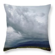 Nebraska Supercell 010 Throw Pillow by Dale Kaminski