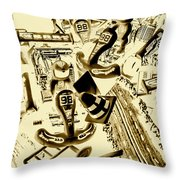 Need For Sepia Throw Pillow