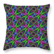 Neon Diamond Pattern Throw Pillow