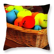 Neon Noodles Throw Pillow by Rick Locke