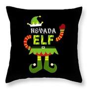 Nevada Elf Xmas Elf Santa Helper Christmas Throw Pillow