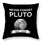 Never Forget Pluto Planet 19302006 Universe Throw Pillow