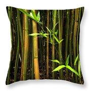 New Bamboo Shoot Throw Pillow